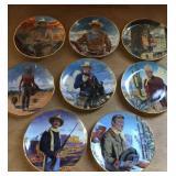 John Wayne Franklin Mint plates western cowboy