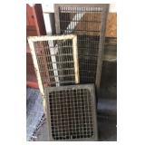 4 Architectural salvage heavy metal floor grates