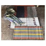 Woven area rug, table runner and scarf