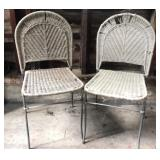 Metal frame wicker  chairs
