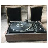 Voice of music turntable, radio and speakers