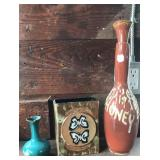 Red clay honey pot and vases