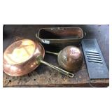 Solid copper 10 inch skillet
