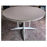 Round Formica top table