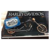 Harley David calendar and playing cards