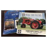 Vintage tractor calendar and Passion of the