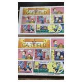 Garfield comic strips signed by Jim Davis
