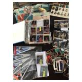 Sports collector pictures, cards and pennants