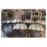 5 matching dining chairs