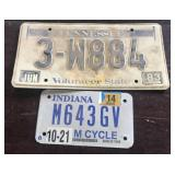 Tennessee and motorcycle license plates