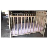 Storkline wood frame baby bed with new mattress