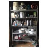 5 shelf industrial bakers rack on wheels
