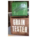 Moisture master grain tester in crate