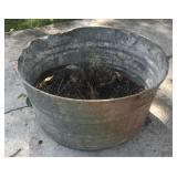 24 inch Galvanized wash tub