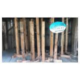 15 cedar display posts