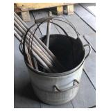 Wooden bucket bands and handles