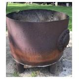 Carthage Mill water pipe turned fire pit