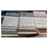 Wall tile sample plates