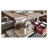 Vintage industrial table saw