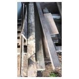 Barn wood and 4x6 pressure treated post