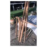 Dowel rod hanging/drying rack