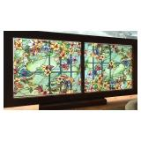 Antique window with stained glass film