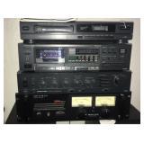 Onkyo tape deck, stereo pre amplifier