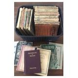Very old hymnals, Army and Navy