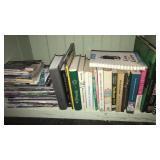 Bottom shelf of books