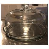 11.5 inch heavy glass dome and plate