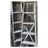 Wooden 6 foot ladders