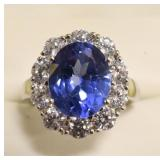 Ladies 4.68 Ct Tanzanite Lady Diana Ring