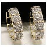 3 Ct Diamond Hoop Earrings