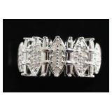Ladies Large Diamond Dinner Ring