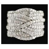 10k White Gold 2 Cttw Diamond Baguette Ring