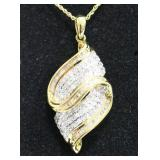 Ladies 1.50 Ct Diamond Necklace