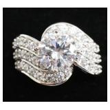 Ladies 3.88 Ct Brilliant White Sapphire Ring