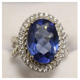 Ladies 6.12 Ct Tanzanite Estate Ring