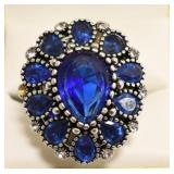 Ladies 12.25 Sapphire Dinner Ring