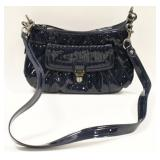 Coach 18671 Poppy Blue Patent Leather Satchel Bag