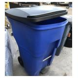 Rubbermaid 95gal Brute Trash Can.  Flip top lid
