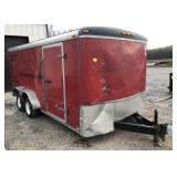 2008 Atlas 7x16 Enclosed Cargo Trailer - No Title