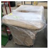 NOS Heavy Plastic Rolling Bin Cart