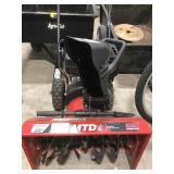 MTD 22 inch compact snow thrower, 179cc,Untested
