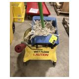Commercial mop bucket with the ringer. Built-in