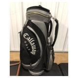Black & Silver Calloway Golf Bag.  Lightly Used