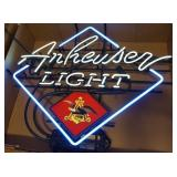 Anheuser Light Beer Advertising Neon Sign