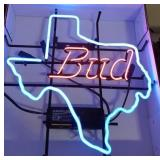 Bud Texas Beer Neon Advertising Sign