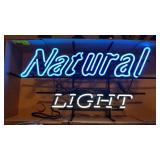 Natural Light Beer Neon Advertising Sign