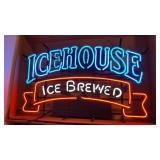 Icehouse Ice Brewed Neon Advertising Sign